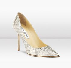 Jimmy Choo | Abel | Glitter Fabric Pointy Toe Pump | JIMMYCHOO.COM