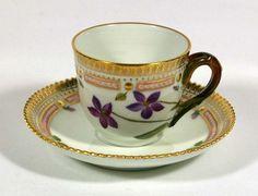 Royal Copenhagen Flora Danica Cup & Saucer