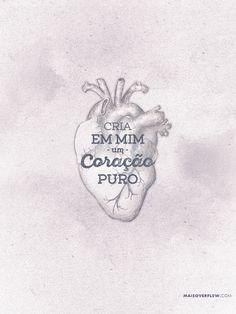 """""""Cria em mim um coração puro, ó Deus, e renova dentro de mim um espírito estável"""". - Salmos 51:10 #30daysofbiblelettering twitter: https://twitter.com/maisoverflow facebook:..."""