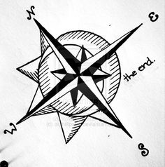 """minus """"the end"""" this is a cool traditional compass with the sun and moon incorporated"""