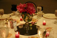 Red Peonies in a large goblet of limes make a great wedding reception table centerpiece. Peonies Wedding Centerpieces, Table Centerpieces, Table Decorations, Reception Table, Wedding Reception, Peony Flower, Flowers, Red Peonies, Limes
