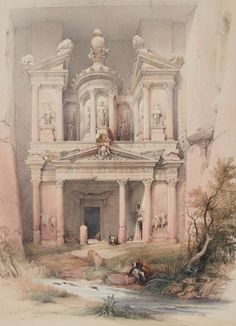 Roberts, David THE HOLY LAND, SYRIA, IDUMEA, ARABIA, EGYPT & NUBIA. LONDON: F.G. MOON, 1842-1849 petra