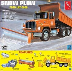 Model Truck Kits, Model Kits, Vintage Models, Old Models, Dump Trucks, Ford Trucks, Wood Toys Plans, Snow Plow, Car Ford