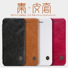 NILLKIN Qin Series Genuine Leather wallet Case For Apple iPhone 5S SE Flip Back Cover Luxury Brand With 360 Degree Protection Digital Guru Shop  Check it out here---> http://digitalgurushop.com/products/nillkin-qin-series-genuine-leather-wallet-case-for-apple-iphone-5s-se-flip-back-cover-luxury-brand-with-360-degree-protection/