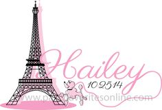 A Pink Parisian Bat Mitzvah logo by Party Favorites #batmitzvahlogo #mitzvahmonday