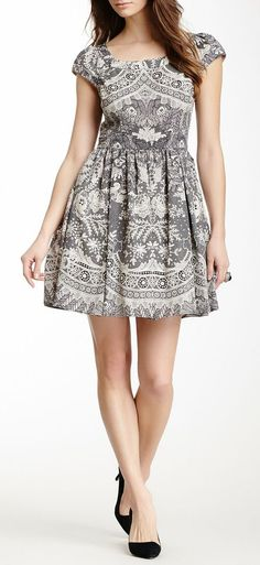 A.B.S. by Allen Schwartz Lace Print Dress
