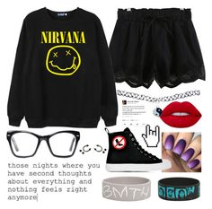 """I'm too punk rock for you."" by jayceepanda on Polyvore featuring Chicnova Fashion, Lime Crime, Spitfire, Moschino, Wet Seal and Franks"