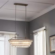 Shop for Antique Silver 6-light Rectangular Glass Droplets Chandelier and more for everyday discount prices at Overstock.com - Your Online Home Decor Store!