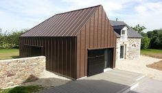 Extension d'une ancienne bâtisse en maison contemporaine en Bretagne, une-Le-Bourg-Neuf-par-ng-architecte #construiretendance
