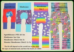 Maxaloones PDF NB-5T grow with me pants by maxandmeena on Etsy