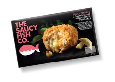 Cute, yet sophisticated, packaging for The Saucy Fish Co.