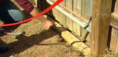 How to install wood to prevent dogs from digging under a fence