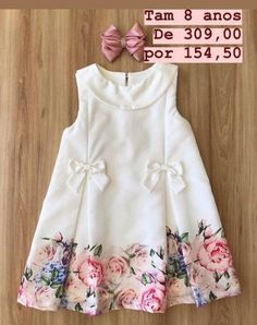 Baby Frocks Designs, Kids Frocks Design, Baby Girl Frocks, Frocks For Girls, Baby Girl Dress Patterns, Little Girl Dresses, Baby Dresses, Kids Gown, Children Dress