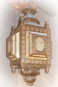 This handmade tin chandelier design was influenced by southern style. Lamp is decorated with tin ornaments and handmade glass. Bedroom Lamps, Bedroom Lighting, Iron Chandeliers, Night Lamps, Rustic Lighting, Ceiling Lamp, Rustic Decor, Lanterns, Wall Lights