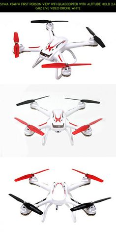 Syma X54HW First Person View Wifi Quadcopter with Altitude Hold 2.4 Ghz Live Video Drone White #gadgets #parts #camera #products #technology #syma #altitude #hold #tech #fpv #racing #shopping #plans #drone #kit