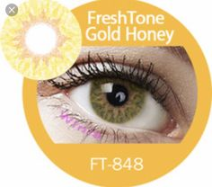 Gold Honey color contacts
