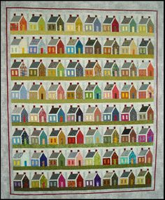 Absolutely GORGEOUS House Quilt