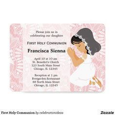 Sold #First #HolyCommunion #christening #invitations Available in different products. Check more at www.zazzle.com/celebrationideas