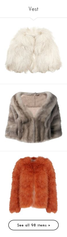 """""""Vest"""" by missk2blue ❤ liked on Polyvore featuring outerwear, jackets, fur, coats, capes, white, white fur cape, fur cape, vintage cape and vintage cape coat"""