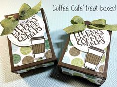 The Lady & Her Stamps: Super Cute Coffee Cafe Box Tutorial Coffee Box, Coffee Cards, Coffee Break, Coffee Gifts, Paper Craft Making, 3d Paper Crafts, Paper Crafting, Diy Cards Tutorial, Envelope