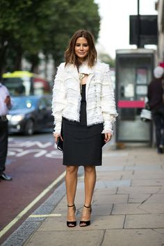 Christine Centenera | Chanel jacket and necklace, Givenchy tank and skirt, Canturi ring. | London Street Style, Spring 2015