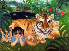 """""""What Shall I Do Today?"""" (aka """"Paradise Found"""") by Margaret Keane"""