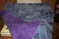 frayed denim quilt