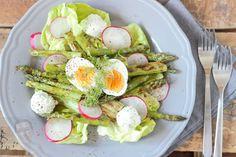 Quick Recipes, Whole Food Recipes, Cooking Recipes, Asparagus Salad, Spring Green, Cobb Salad, Salad Recipes, Good Food, Nutrition