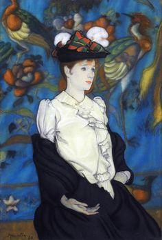 Louis Anquetin) 1861 – 1932 г.  Луи Анкетен «Женщина в шляпе (Джульетта)». Художники импрессионисты