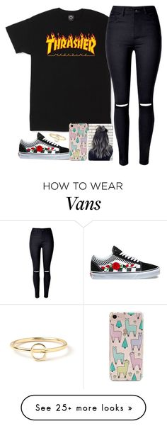 """""""Untitled #2264"""" by tokyoghoul1 on Polyvore featuring WithChic, Vans, Forever 21 and Maya Brenner Designs"""