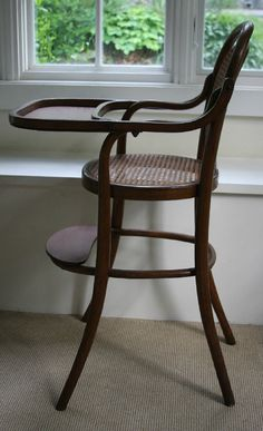 Thonet Baby High Chair  Vintage Bentwood by KangarooModern on Etsy, $295.00