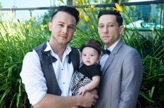 Adrian and Brian with their daughter, Mariah