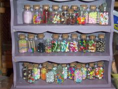 Miniature sweet shop. Sweets in polymer clay