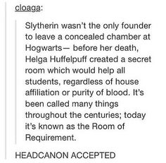 Salazar - Chamber of Secrets. Helga - Room of Requirement. Godric - headmasters office. Rowena - Unknown.
