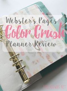 Webster's Pages Color Crush Planner review. A5 Amberdowns.net