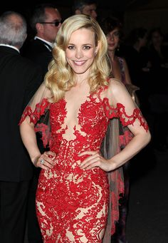 Rachel McAdams: The actress wore a lacy red Marchesa gown at the Cannes Film Festival in 2011.