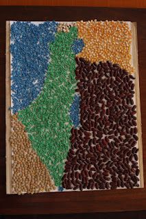 our Jewish little place: Map of Israel made of cereals and legumes for Yom HaAtzmaut
