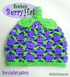 Newborn Berry Hat ~ free pattern
