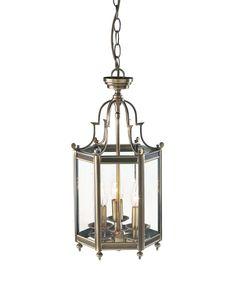 MOO0375 Moorgate 3 Light Lantern in Antiqe Brass Cast Brass Lantern Dual…