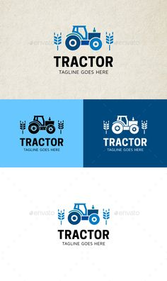 Tractor Logo - Objects Logo Templates Download here : http://graphicriver.net/item/tractor-logo/15776249?s_rank=137&ref=Al-fatih