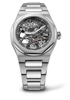 Girard-Perregaux lanciert die Laureato Flying Tourbillon Skeleton. Die neue skelettierte Uhr mit fliegendem Tourbillon kommt in einem 42 Millimeter großen Gehäuse aus Rosé- oder Weißgold. [3100] #uhr #luxus #watch #menluxurywatches #luxurywatches