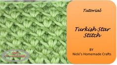 Tutorial: Turkish Star Stitch – Nicki's Homemade Crafts