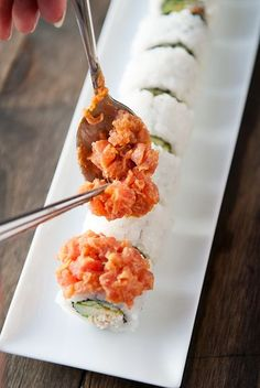 volcano roll sushi recipe | use real butter http://feedproxy.google.com/fashiongoSungalsses3