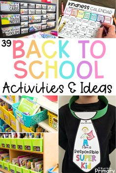 Back to school activities make the beginning of the school year go smoothly for everyone! Build a sense of community, get organized, and reward positive behavior with these classroom management ideas for the start of the school year. Classroom Jobs, Classroom Organization, Classroom Management, Classroom Rewards, Behavior Management, Google Classroom, Classroom Decor, Beginning Of The School Year, New School Year