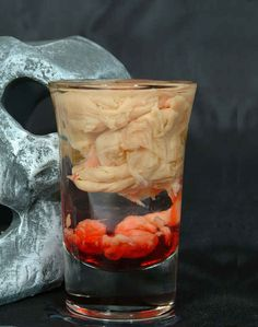 Throw back some curdled bloody brains shots. | 27 Disgustingly Awesome Ways To Take Halloween To The Next Level