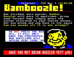 Playing Bamboozle on the TV!