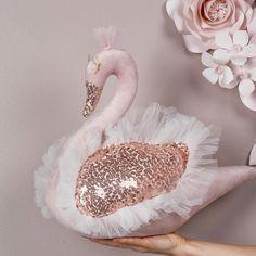 An amazing Swan Adele available in VelourSwan shop! 3d Paper Star, Paper Stars, Baby Decor, Elephant Throw Pillow, Girl Nursery, Swan Nursery Decor, Velour Fabric, Diy Pillows, Soft Sculpture
