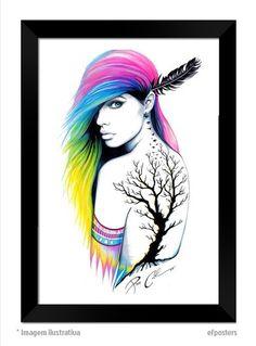 Poster Tattoo | Moldura preta ou branca - R$55,00 #efposters #efposter_oficial #posters #quadros #posterpersonalizado #postertatoo #tatto