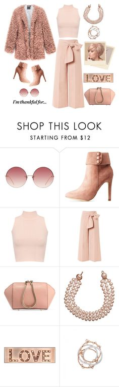 """""""Thankful for Family"""" by youaresofashion ❤ liked on Polyvore featuring Linda Farrow, Hot Kiss, WearAll, Topshop, Alexander Wang and Chanel"""