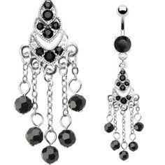 Piercing nombril chandelier gothique